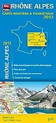 Rhône Alpes, Carte Régionale Routière Touristique N°112. Plan du centre-ville de Lyon - Echelle : 1/200 000, avec index - Edition 2012