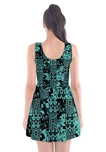 CowCow - Vestido - para mujer Turquoise & Black