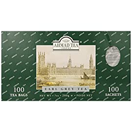 Ahmad Tea 100 Tea Bags (200g) 27 Black loose leaf tea in Tin. Net 7oz/200g Ingredients: Black tea, bergamot flavoring