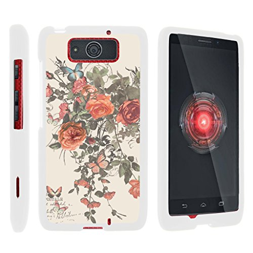 Compatible with Motorola Droid Maxx Case | Droid Ultra Case [Slim Duo] Ultra Slim Matte Hard 2 Piece Cover Protector on White by TurtleArmor - Elegant Roses