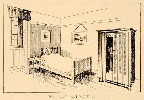 1920 Ad 2nd Bedroom Furniture Painted Cottage England - Original Print Ad