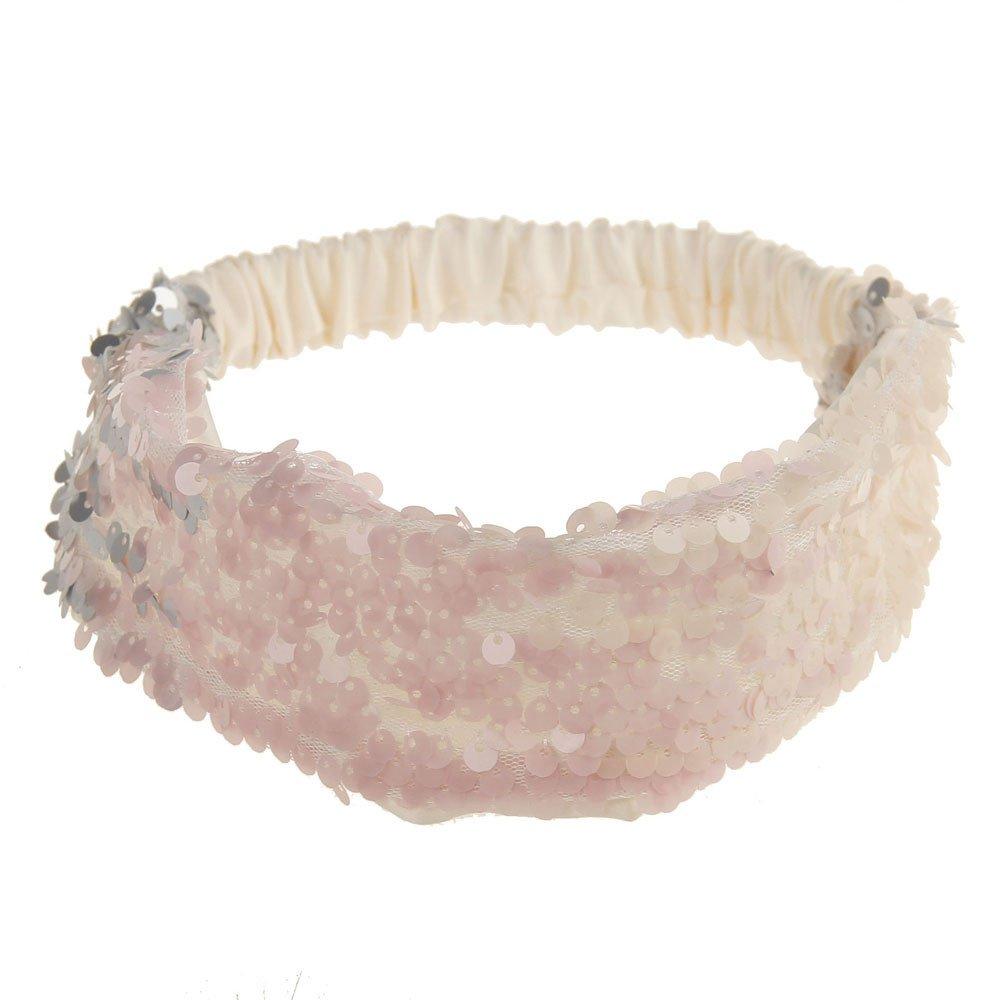 Women Fashion Hair Ball Cotton Headbands Sequins Yoga Elastic Run Head Wrap Wide Hair Accessories Sport Turban ODGear (J)