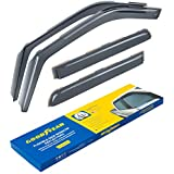 Goodyear Shatterproof in-Channel Window Deflectors for Trucks Ford F-150 2015-2020 SuperCrew, Rain Guards, Window Visors, 4 Pieces – GY003407