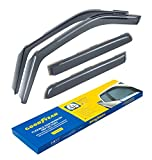Goodyear Shatterproof in-Channel Window Deflectors for Trucks Ford F-150 2015-2020 SuperCrew, Rain Guards, Window Visors, 4 Pieces - GY003407