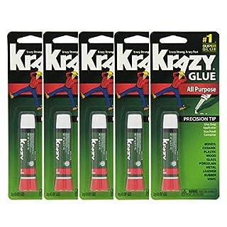 Krazy Glue Original Crazy Super Glue All Purpose Instant Repair, 10 Count