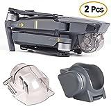 Kuuqa 2Pcs Lens Caps Accessories, Lens Hood Sun Shade Lens Hood Gimbal Protective Cover with Gimbal Guard Camera Fixed Protector for Dji Mavic Pro (Dji Mavic Not Included)