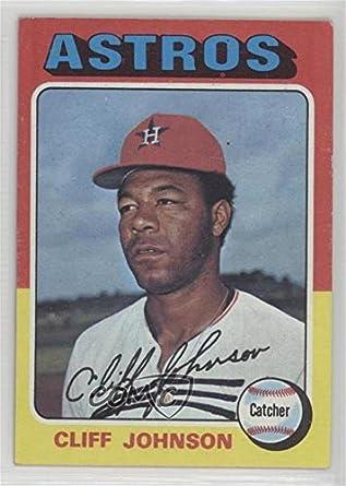 Amazoncom Cliff Johnson Baseball Card 1975 Topps Base