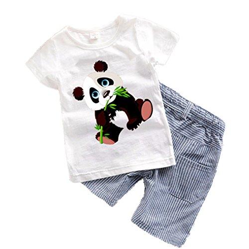 Summer Toddler Boy Clothing Sets Cartoon Costume Panda Dinosaur Boys Clothing Cute Panda (Lorax Costumes For Kids)