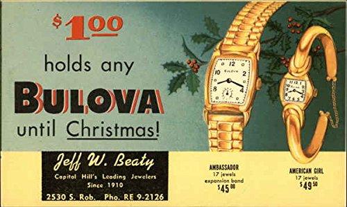 Vintage Advertising Postcard: Bulova Watches Advertising ()