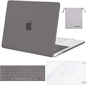 MOSISO MacBook Pro 15 inch Case 2019 2018 2017 2016 Release A1990 A1707, Plastic Hard Shell Case&Keyboard Cover&Screen Protector&Storage Bag Compatible with MacBook Pro 15 Touch Bar, Gray