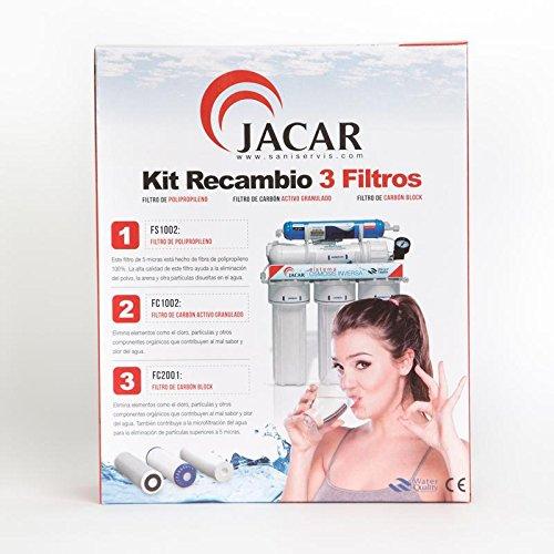 Jacar - Paquete de 3 filtros de osmosis