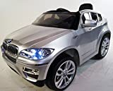 NEW BMW-X6 silver for KIDS 2-5 years. RIDE ON CAR POWER WHEELS. WITH REMOTE CONTROL. BATTERY 12V. MP3. RIDE ON TOY