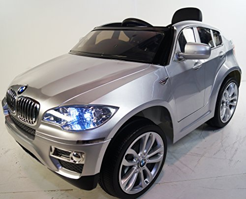 NEW BMW-X6 silver for KIDS 3-7 years. RIDE ON CAR POWER WHEELS. WITH REMOTE CONTROL. BATTERY 12V. MP3. RIDE ON TOY - 1 25 Chevy Silverado