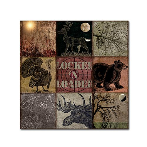 Cabela Clock by Color Bakery, 24x24-Inch Canvas Wall Art