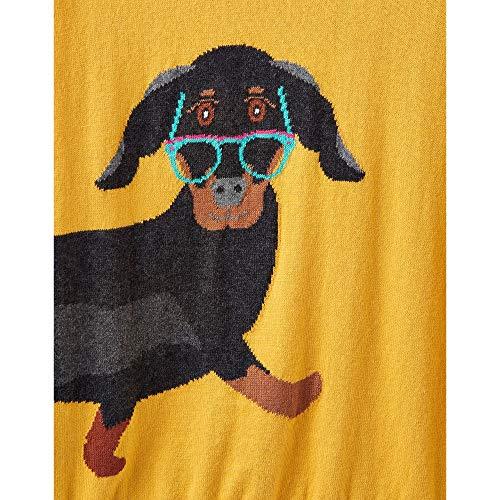 UK12 Dog Intarsia de EU40 Womens Miranda Cavalier Sausage US8 Joules Ochre z BFUzAFq