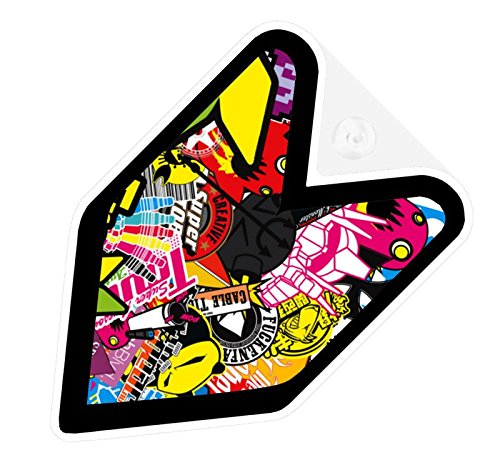 JDM Sticker Bomb Car Decal Wakaba Driver Badge not vinyl sticker