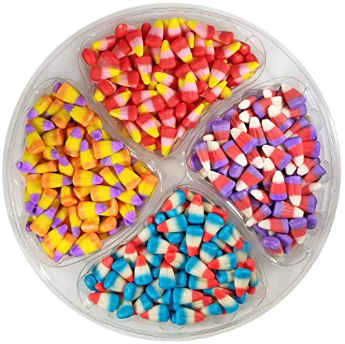 Happy Candy Fruity Candy Corn Mix Party Tray - Cherry, Raspberry, Raspberry Lemonade & Tangerine - Resealable, 2.5 lbs (40 ()