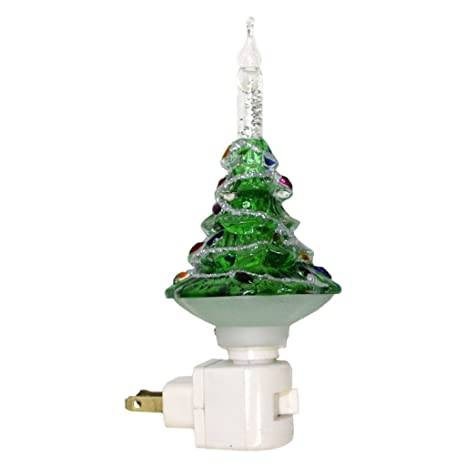 roman 33676 7 christmas tree bubble light night light