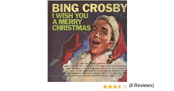 C.D.MUSIC F127 BING CROSBY : I WISH YOU A MERRY CHRISTMAS CD