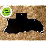 3 Ply LEFT HANDED Pickguard Fits SG Standard Guitar -BLACK (A76)