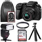 Panasonic DMC-G7KK Digital Mirrorless Camera 14-42 mm Lens Kit 4K w/FC-1000 18-180MM Zoom Intelligent TTL Flash Bundle