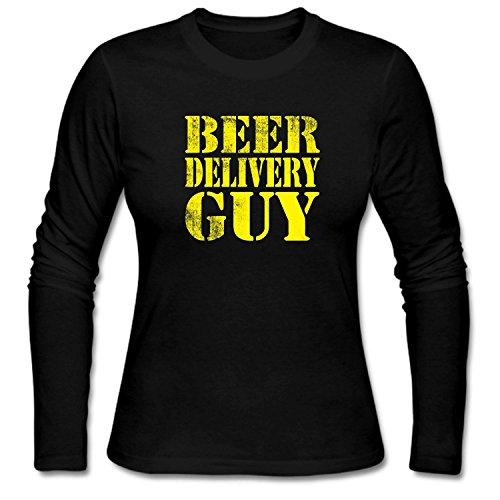 ZWEN Women's Beer delivery Guy T-Shirts (T-shirt Beer Delivery Guy)