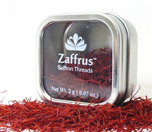 Zaffrus - Premium All Red Saffron Threads Value Pack (2 gram /.07 oz) (Saffron Threads)