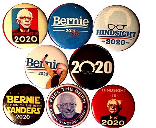 Bernie Sanders president 2020 x 8 NEW 1 inch pins buttons badge chosen election