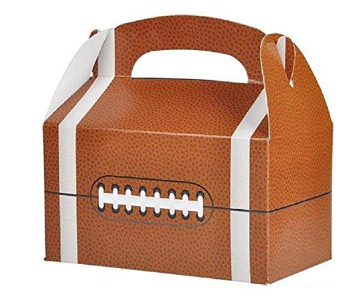 Novelty Treasures Football Treat Box (Set of 12) Birthday Party Goody Bag ()