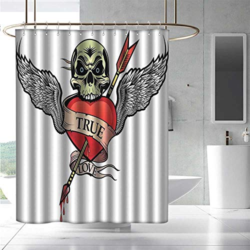 Superman Tattoo With Angel Wings - EwaskyOnline Home Decor Shower Curtain Tattoo