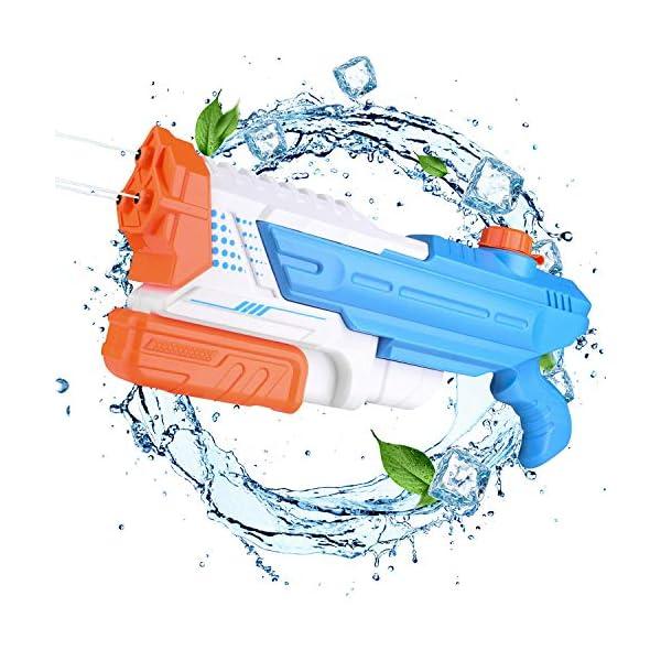 EKKONG Pistola ad Acqua, 1400ml Getto Super Potente e 8-10M Lunga Gittata Giocattoli Pistole ad Acqua Water Guns per… 1 spesavip