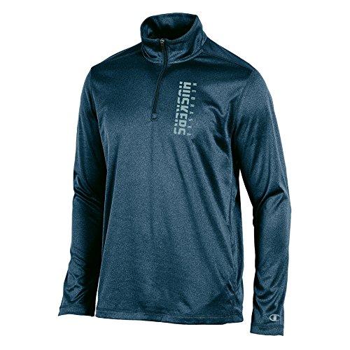 ka Cornhuskers Men's Stealth Quarter Zip Pullover, Charcoal Heather, X-Large ()