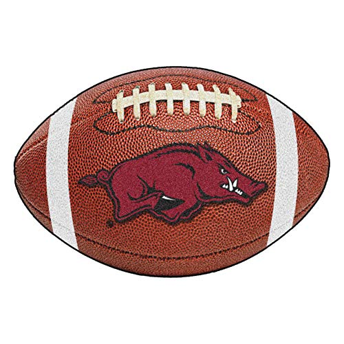 FANMATS NCAA University of Arkansas Razorbacks Nylon Face Football Rug