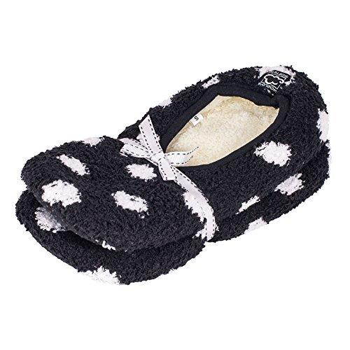 2 Pack - Superzachte, Comfortabele Pantoffels Met Antislip Onderzool Zwarte Punt