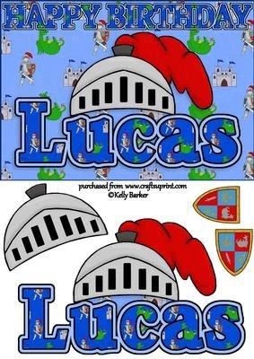 Cumpleaños Caballero A5 Tarjeta de nombre Lucas por Kelly ...