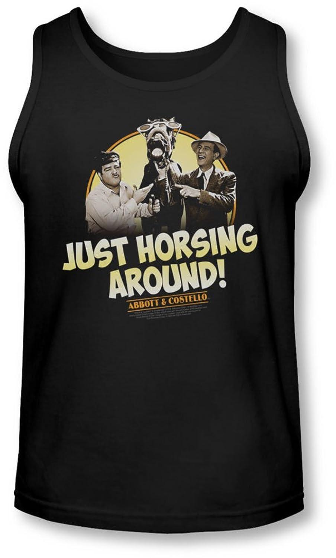 Abbott & Costello - Mens Horsing Around Tank-Top