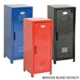 Mini Metal Locker - Assorted Colors with Glitter -11 Inch - 1 Pack