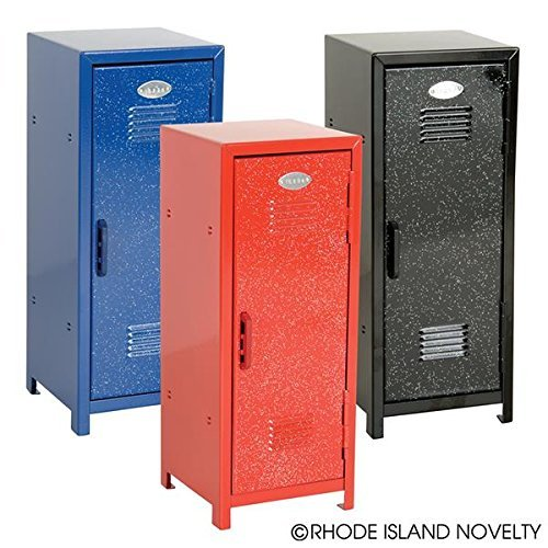 Mini Lockers For Kids - Mini Metal Locker - Assorted Colors with Glitter -11 Inch - 1 Pack