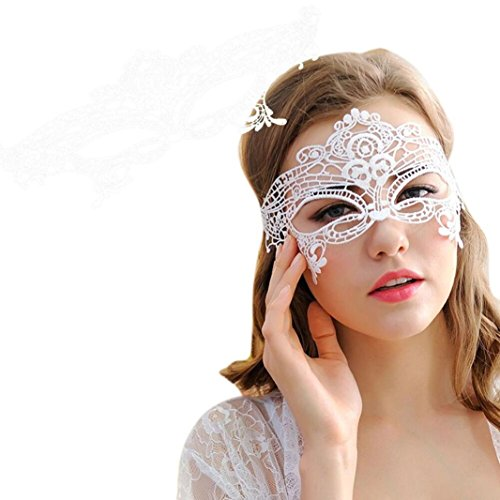 Half Girl Adult Cat Mask (KONFA Masquerade Lace Mask Catwoman Halloween Black Cutout Prom Party Mask Accessories)