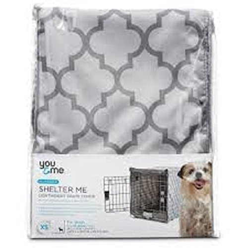 You & Me Reversible Shelter Me Lightweight Crate Cover for Dogs XS 18'Lx12'Wx14'H