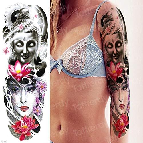 3pcsHombres Tatuaje de Manga Patrón Tatuaje Brazo Hombro Hombre ...