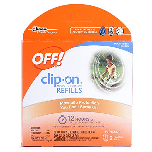 OFF! Clip-On Mosquito Repellent Refill, 2 ct, 0.0032 oz - Mosquito Repellent Refill