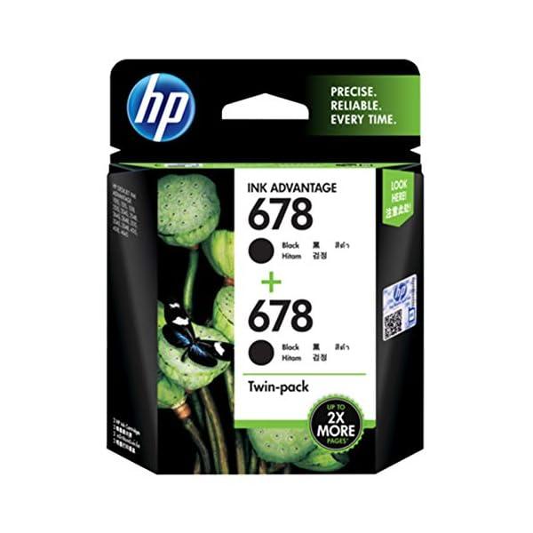 HP 678 2-Pack Black Ink Advantage Cartridges