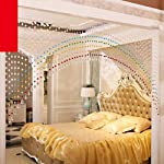 Pindia Acrylic Crystal Strings Bead Curtain with Original Glass Drop (Set of 10) (Multicolor)