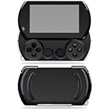 MightySkins Skin For Sony PSP Go – Carbon Fiber | Protective, Durable, and Unique Vinyl Decal wrap cover | Easy To Apply, Remove, and Change Styles | Made in the USA