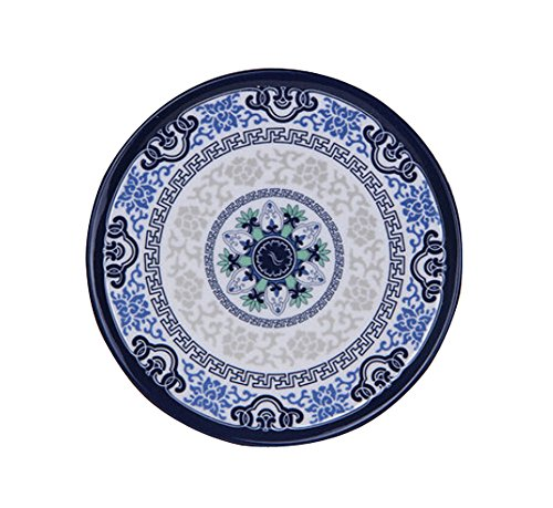 Melamine Coasters (Set of 5 Lovely Melamine Coasters Coffee Coasters, BLUE WHITE)
