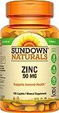 Sundown Naturals® Zinc Gluconate 50 mg, 100 Caplets (pack of 3)
