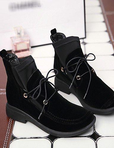 Robusto Uk6 Eu36 Black us8 5 De Cn35 Mujer A Black Casual Redonda Tacón Uk3 Vestido negro Vellón Punta Xzz Moda Eu39 Satén us5 Zapatos Cn39 5 Botas La Elástico W4IqnR