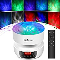 GeMoor Night Light for Kids Ocean Wave Projector Night Light Projection Lamp Light Show with Remote Control/Timer/Music Player Universe Projection Lamp Kids Adults for Bedroom and Living Room