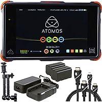 Atomos Ninja Flame 7 4K HDMI Recording Monitor, Atomos Power Kit for Shogun Ninja Inferno & Flame, 7 Magic Arm, HDMI A-D BASIC 3 Cable and HDMI A-C Basic 3 Cable